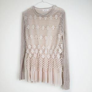 Simply couture long sleeves lace blouse